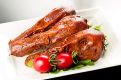 Braised duck heads Royalty Free Stock Photos