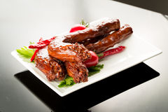 Braised duck necks Royalty Free Stock Images