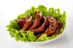 Braised duck palm Stock Photography