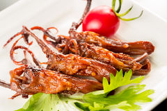 Braised duck tongue Royalty Free Stock Photography