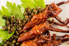 Braised duck tongue Royalty Free Stock Images