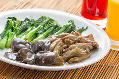 Braised duck tongue with Kale Royalty Free Stock Photo