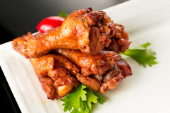 Braised duck wings Stock Photo