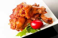 Braised duck wings Stock Images