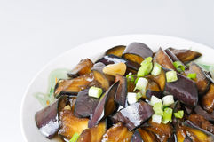 Braised eggplant, Chinese food Stock Photography