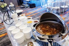 Braised Fish Maw in Red Gravy royalty free stock photo