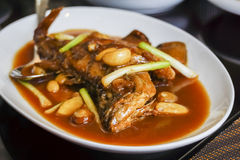 Braised fish with soy sauce Stock Images