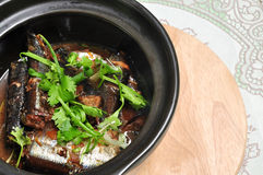 Braised fish Royalty Free Stock Images