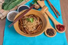 Braised goose feet with egg noodle menu Royalty Free Stock Photos