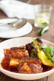 Braised grilled beef short ribs royalty free stock image