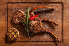 Braised Lamb Chops. Royalty Free Stock Image