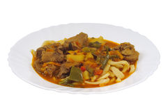 Braised lamb with noodles Royalty Free Stock Photography