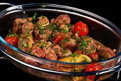 Braised lamb with potatoes Royalty Free Stock Images