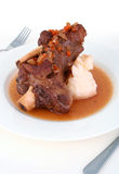 Braised lamb shank Royalty Free Stock Image