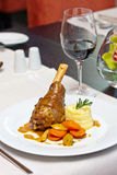Braised lamb shank Royalty Free Stock Images