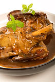 Braised Lamb Shank in Gravy Stock Photo