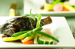Braised lamb shanks Stock Photography