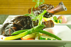 Braised lamb shanks Stock Image
