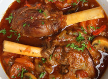 Braised Lamb Shanks in Casserole Dish Stock Photography