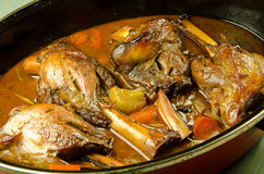 Braised lamb shanks cooking Royalty Free Stock Photos