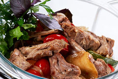 Braised Meat Ribs with Vegetables Stock Image