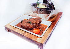 Braised meat in sauce Stock Photos