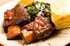 braised nötkött ribs kryddigt Arkivbilder