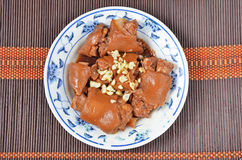 Braised pig knuckles Royalty Free Stock Photo