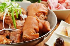 Braised pig knuckles Stock Image