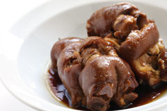 Braised pig's trotters Royalty Free Stock Image