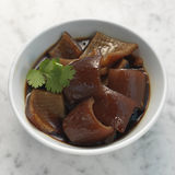 Braised pig skin in soya sauce Stock Image