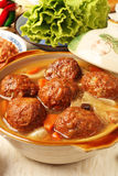 Braised pork balls in soy sauce Royalty Free Stock Photos