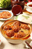 Braised pork balls in soy sauce Royalty Free Stock Photo