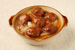 Braised pork balls in soy sauce Stock Photography