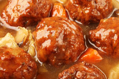 Braised pork balls in soy sauce. Chinese  pork meatballs stewed with  cabbage Stock Images