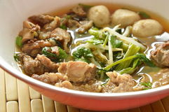 Braised pork and bean sprout stew on bowl Royalty Free Stock Images