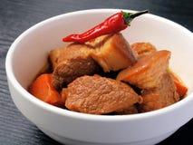 Braised pork belly Stock Photo