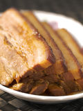 Braised pork belly Royalty Free Stock Images
