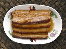 Braised pork belly Stock Images