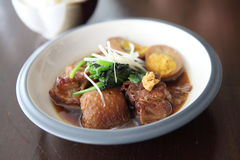 Braised pork belly in Japanese style Stock Image