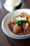 Braised pork belly in Japanese style Royalty Free Stock Image