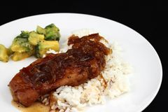 Braised Pork Chop Dinner Stock Image