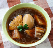 Braised Pork  With Egg And Tofu Royalty Free Stock Photography
