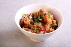 Braised pork feet in a bowl Stock Photography