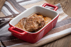 Braised pork in gravy. Stock Images
