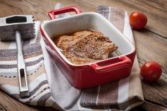 Braised pork in gravy. Stock Photos