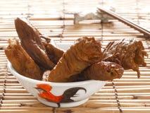 Braised pork intestines Stock Photo