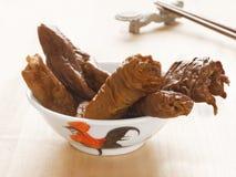 Braised pork intestines Stock Photos