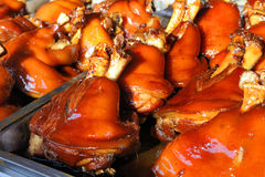 Braised pork knuckles. These braised pork knuckles are a speciality in Zhouzhuang,China Royalty Free Stock Photography
