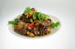 Yummy Chinese food----hot pig`s feet royalty free stock photography